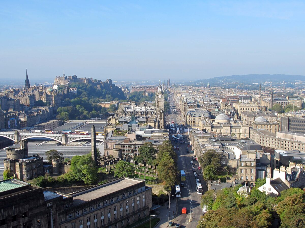 The Castle and Princes Street from the Nelson Monument