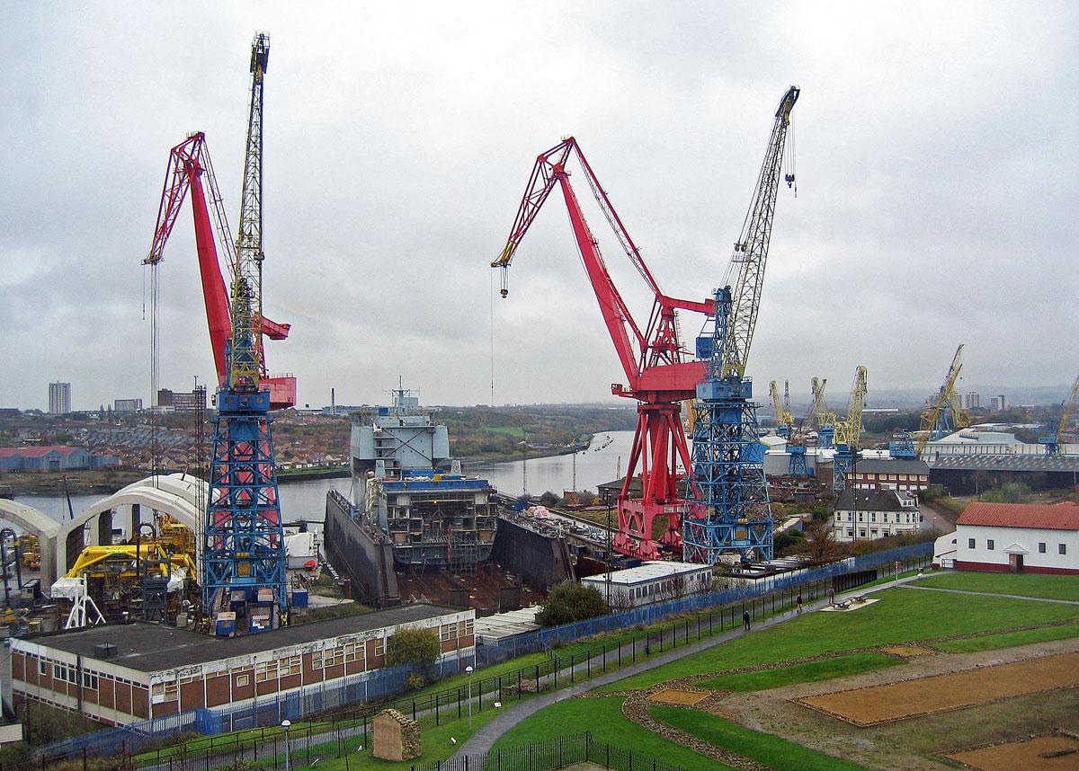 The Swan Hunter Shipyard in 2004