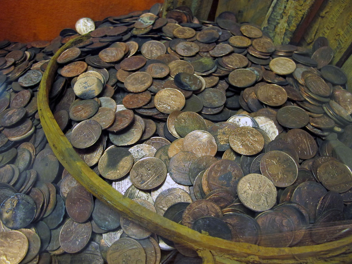 Coins from the Admiral Gardner