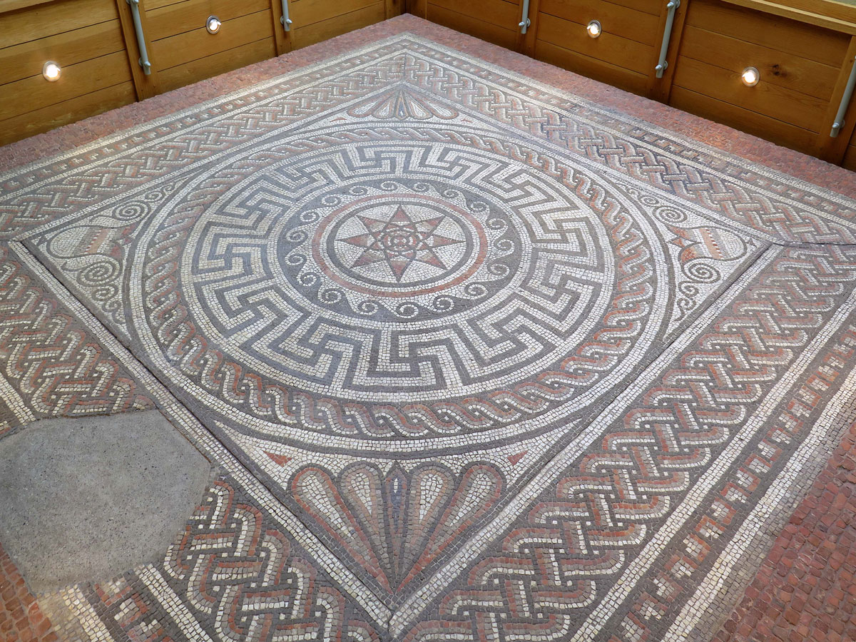 The Sparsholt Roman Villa Mosaic in the Museum