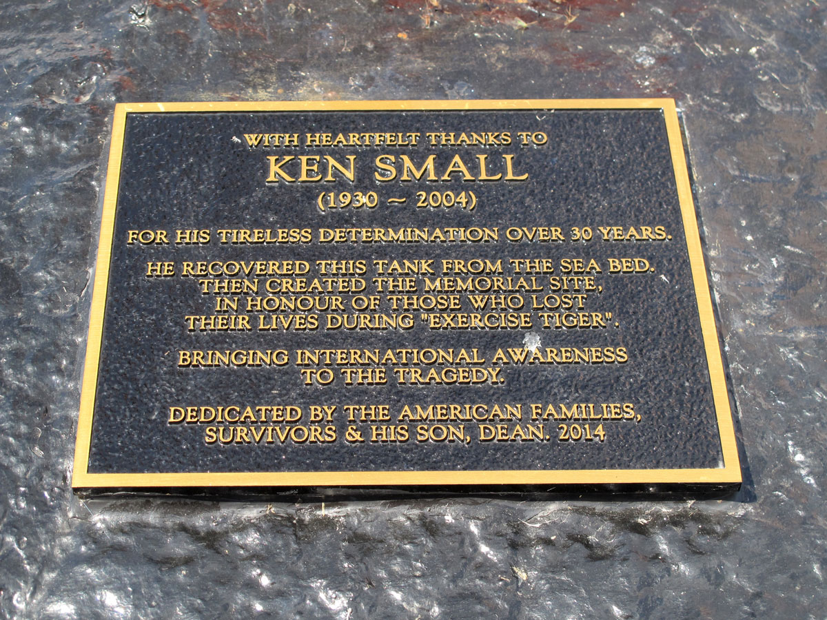Plaque dedicated to Ken Small