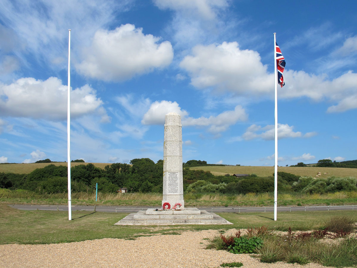 Monument from the U.S. Army to the people of the South Hams villages