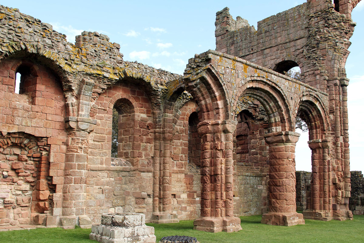 Norman Arches under the Rainbow Arch at Lindisfarne Priory