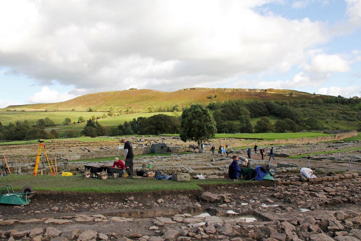 Archaeologists working at Vindolanda