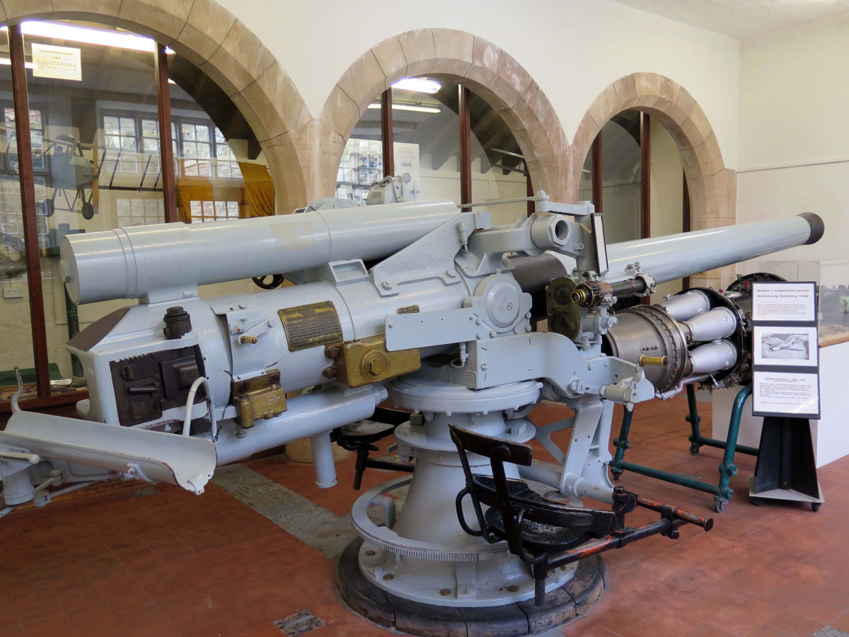 4 inch Naval Gun in the Armstrong Museum