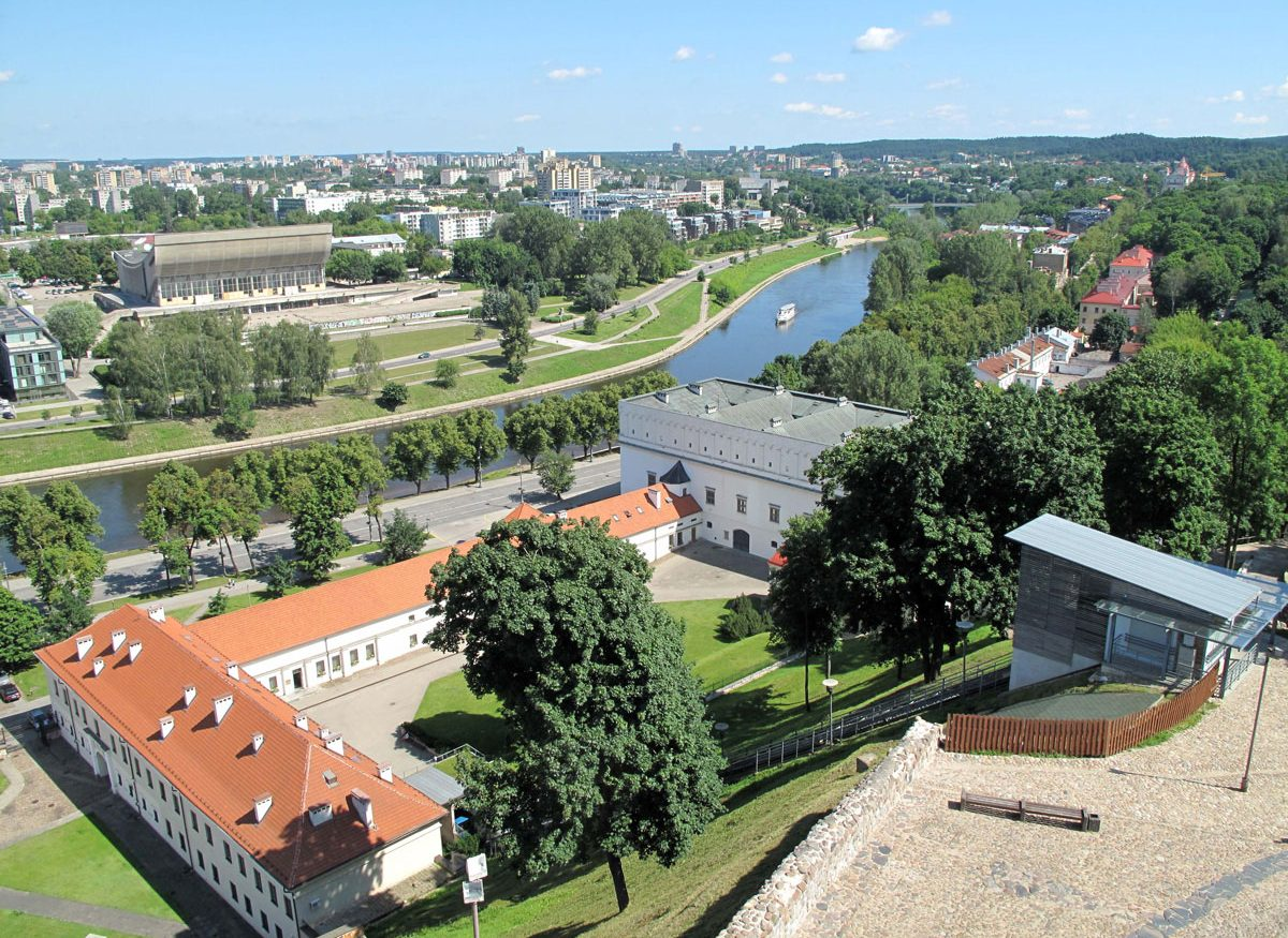 View over the Arsenal and the Neris River