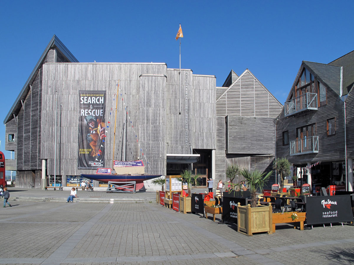 Entrance to the National Maritime Museum Cornwall in Events Square