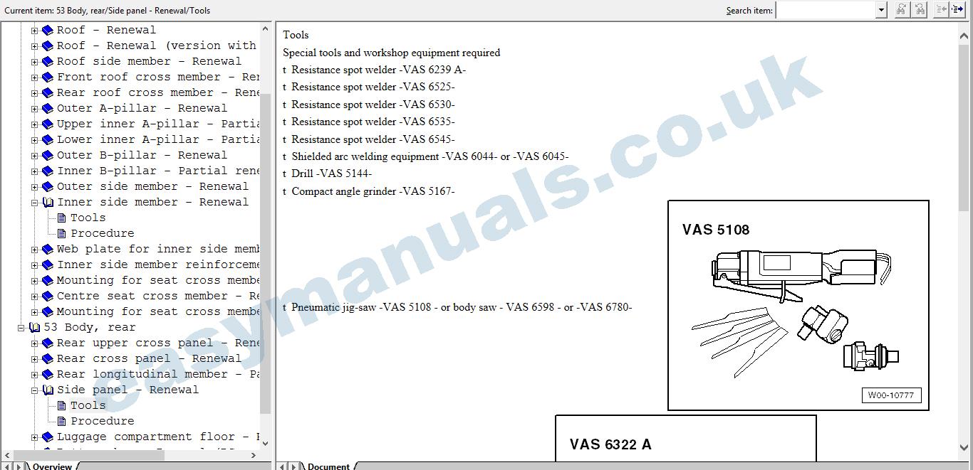 Commercial Workshop Manuals, VW, VW