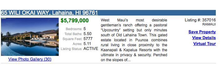 active maui listing for sale