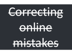 online mistakes