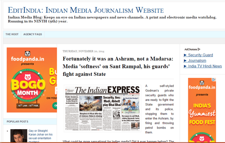 11 sites that keep a watchful eye on Indian media -