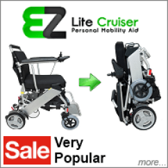 Power Chairs For Sale Clear Perspex Dining Ez Lite Cruiser Lightweight Folding Wheelchair On