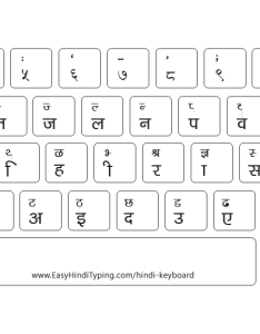 Hindi font keyboard with white background also free to download rh easynepalityping