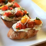 Tomato Basil Bruschetta with Goat Cheese