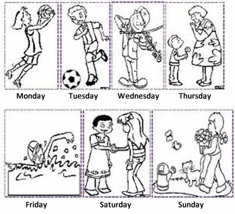 All Worksheets » Learning The Days Of The Week Worksheets
