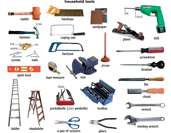 Tools for a workshop and outside