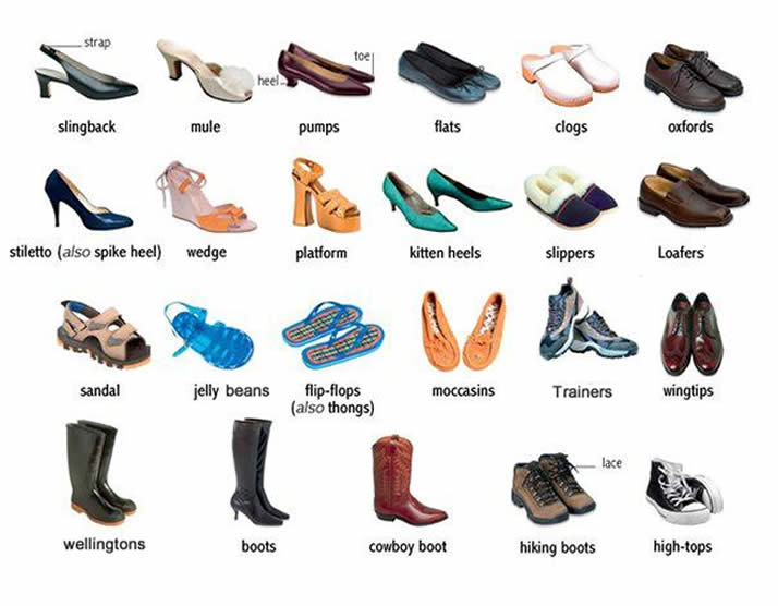 Wear Different Type of Shoes