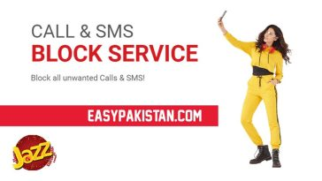 Jazz call and SMS Block service Code