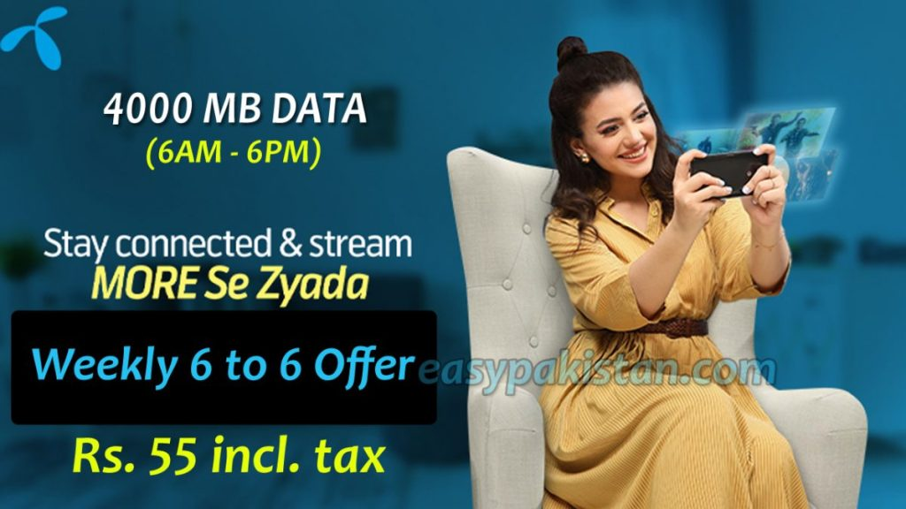 Telenor Weekly 6 to 6 Offer