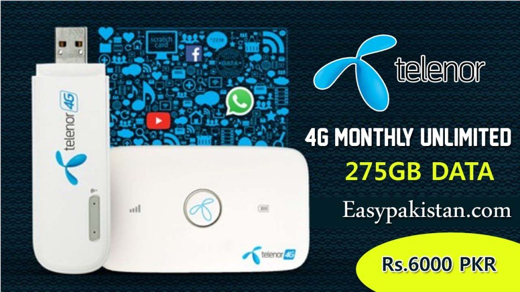 Telenor 4G Monthly Unlimited Bundle