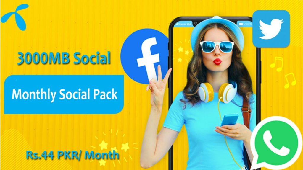 Telenor Monthly Social Packages