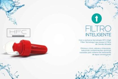 ACQUALIFE SQUEEZE COM FILTRO 500ML | AMARELO-785