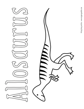 free printable dinosaur coloring pages # 11