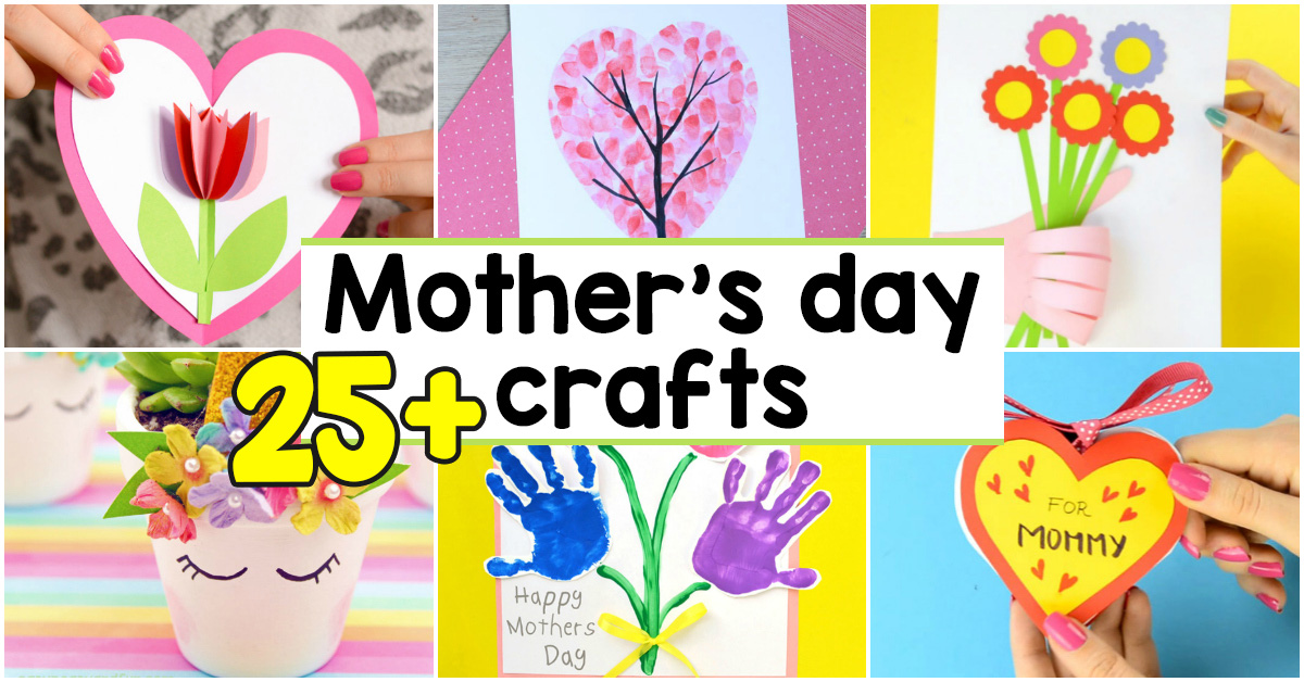 25 Mothers Day Crafts For Kids Most Wonderful Cards