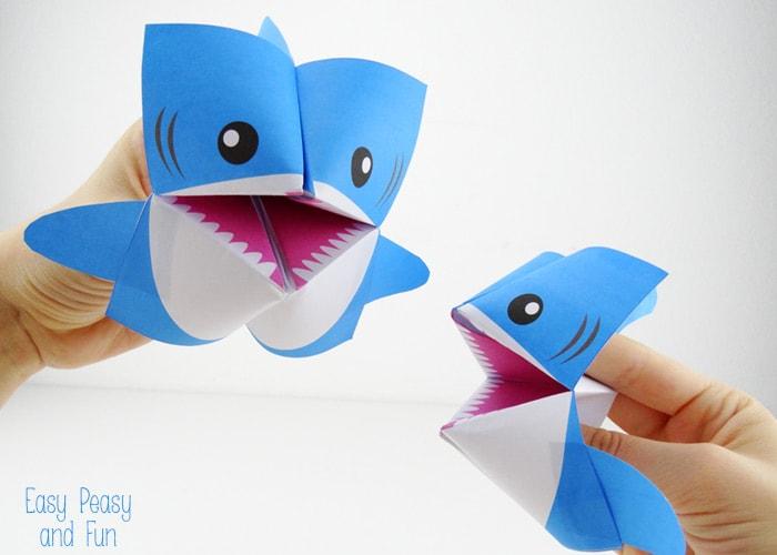 shark cootie catcher origami