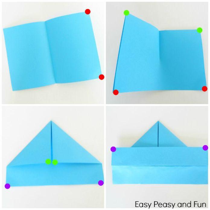 Paper Boat Folding Instructions