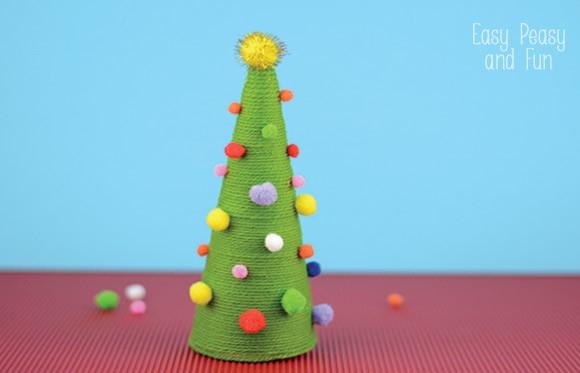 Pom Pom Cone Christmas Tree Craft Easy Peasy And Fun