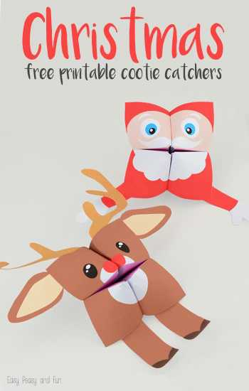 Looking for fun Christmas activities for home or the classroom? Santa Cootie Catcher - Easy Peasy and Fun || Santa Printables: 10 Fun Games and Activities! || Letters from Santa Holiday Blog