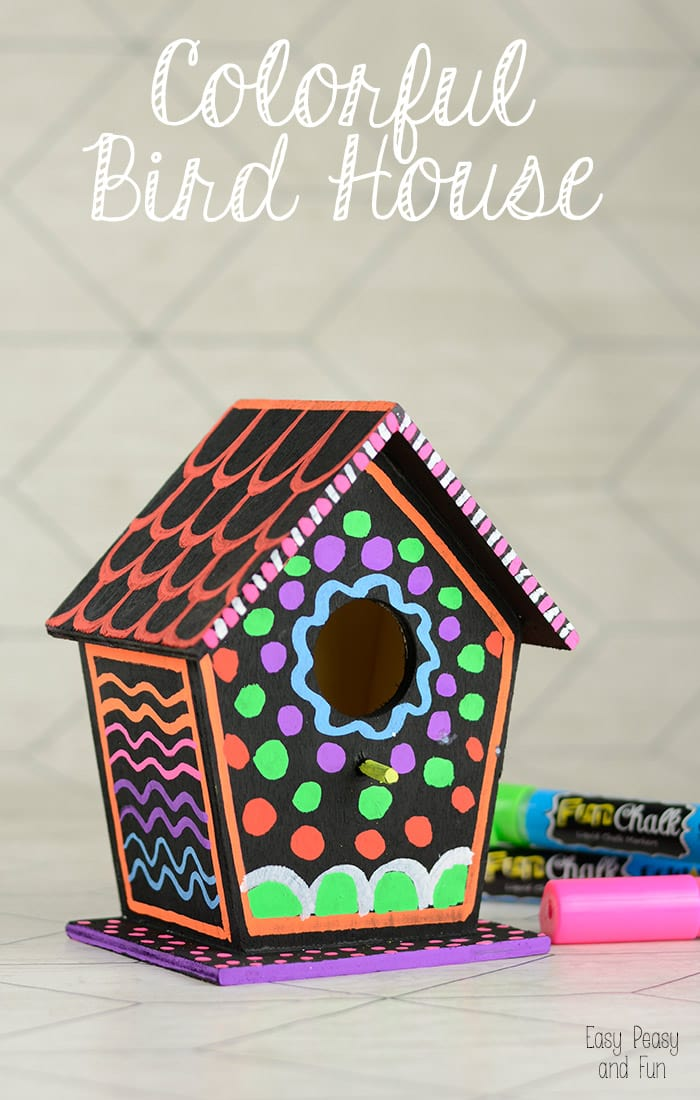DIY Colorful Bird House Easy Peasy And Fun