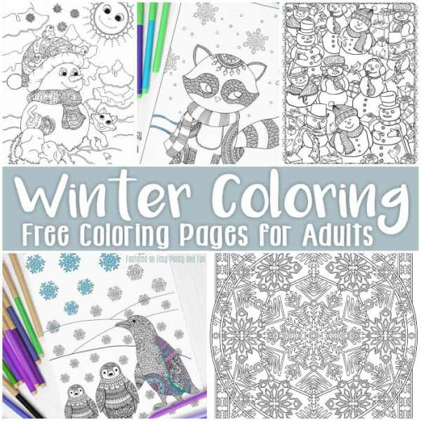 winter coloring pages free printable # 6