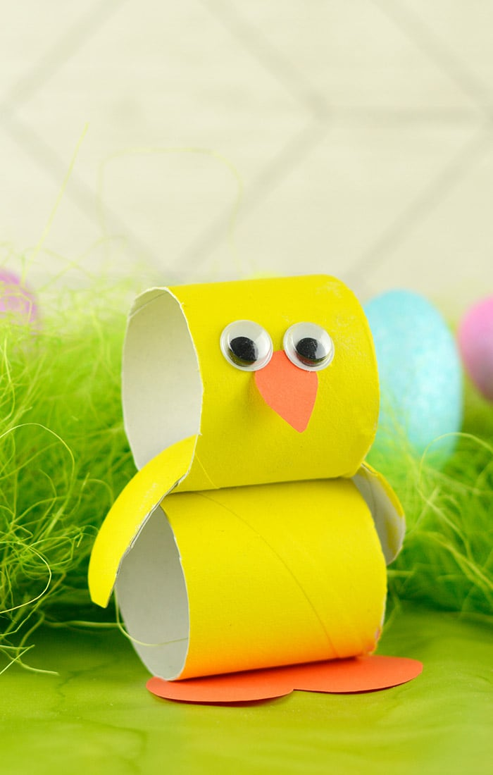 Paper Roll Chick  Easter Crafts for Kids  Easy Peasy and Fun