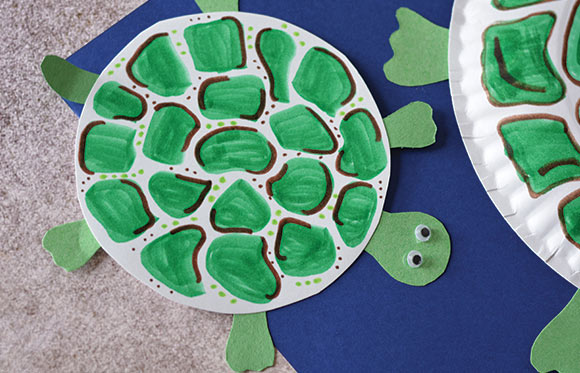 Paper Plate Turtle Craft Easy Peasy And Fun