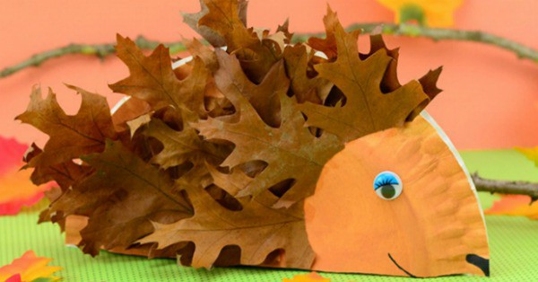 Paper Plate Hedgehog Craft Fall Crafts For Kids Easy