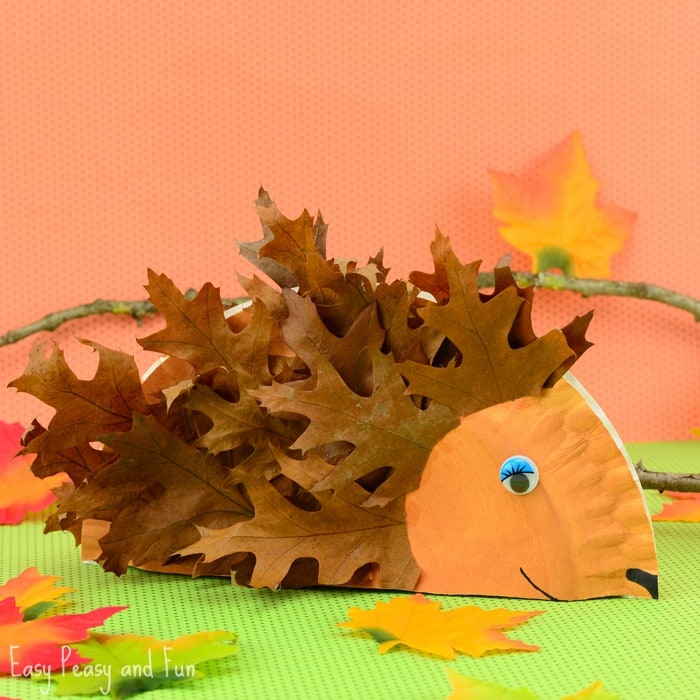 paper plate hedgehog craft fall crafts for kids