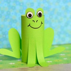 Play Kitchen For Toddlers Stainless Steel Appliance Package Paper Roll Frog Craft - Easy Peasy And Fun
