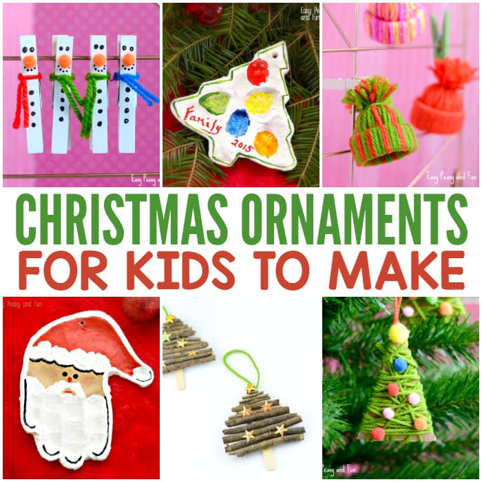 Jolly Diy Christmas Ornaments Ideas Homemade Memories For Kids Easy Peasy And Fun