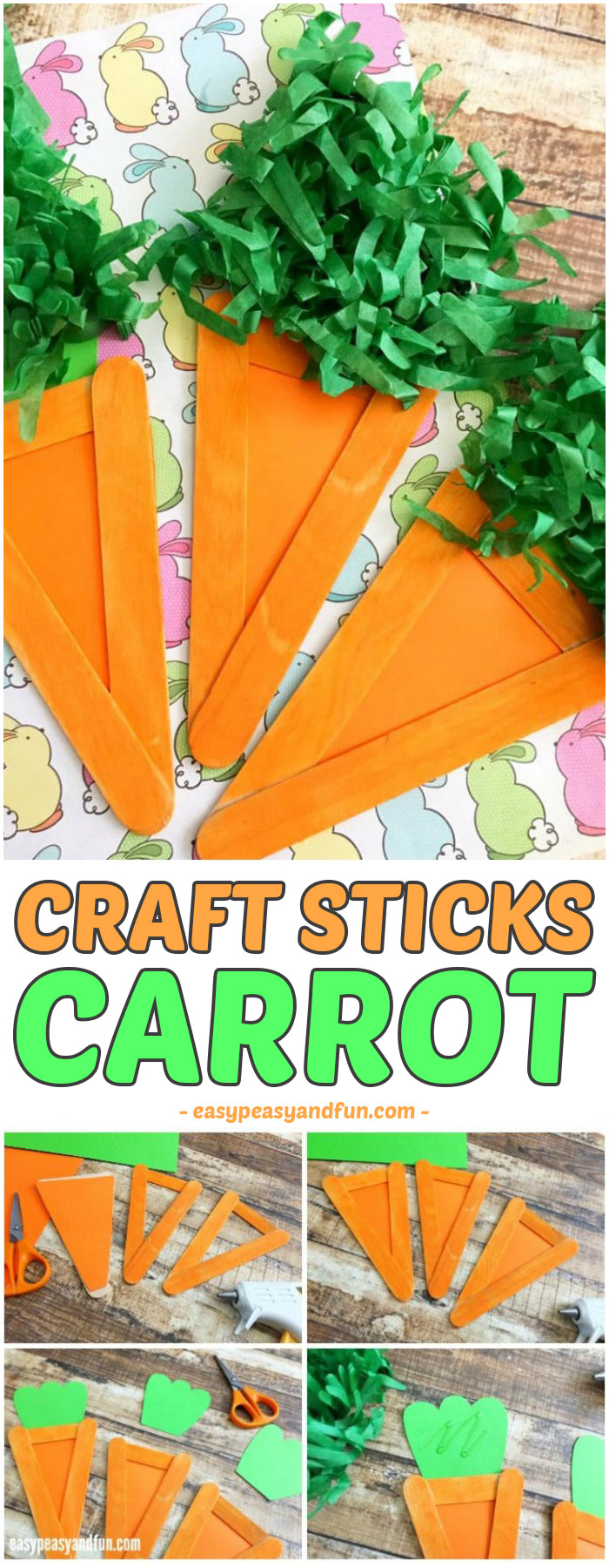 Carrot Craft  Easter Craft Idea for Kids  Easy Peasy and Fun