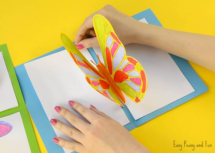 DIY Butterfly Pop Up Card With A Template Easy Peasy And Fun
