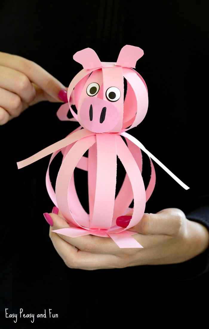 Easy Paper Pig Craft  Easy Peasy and Fun