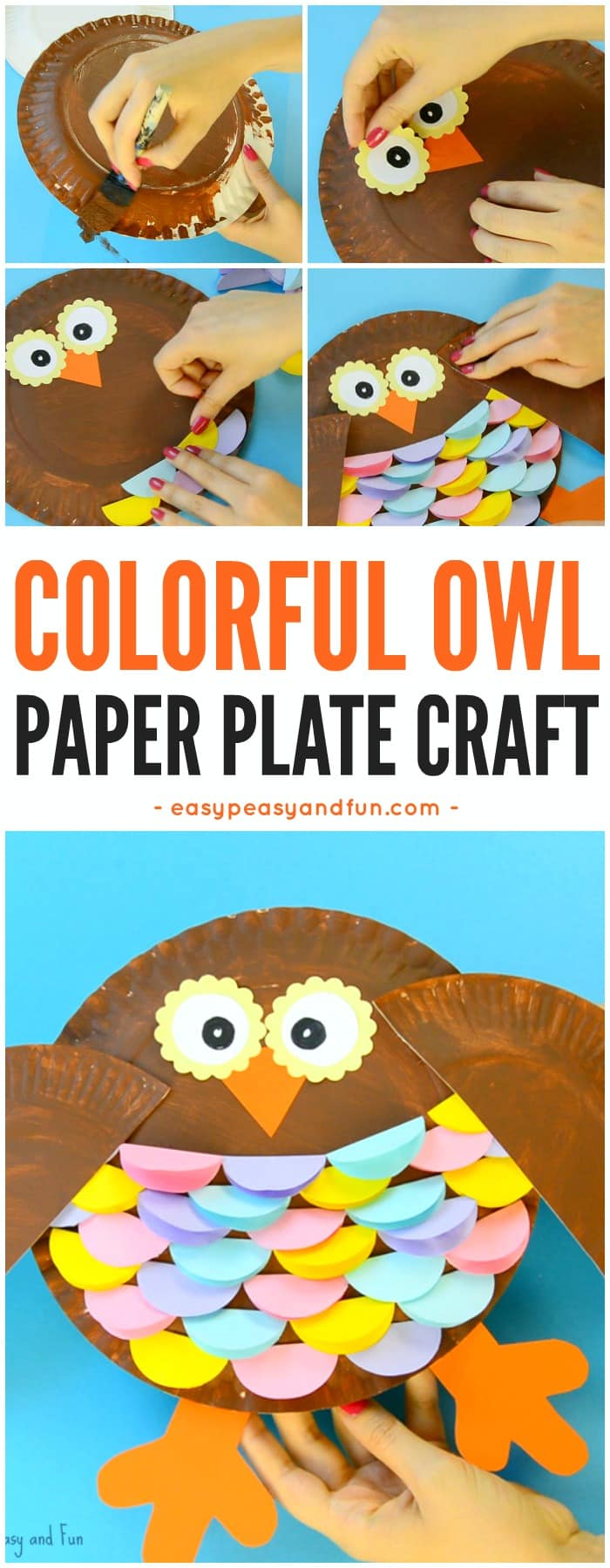 Colorful Paper Plate Owl Craft Idea Easy Peasy And Fun