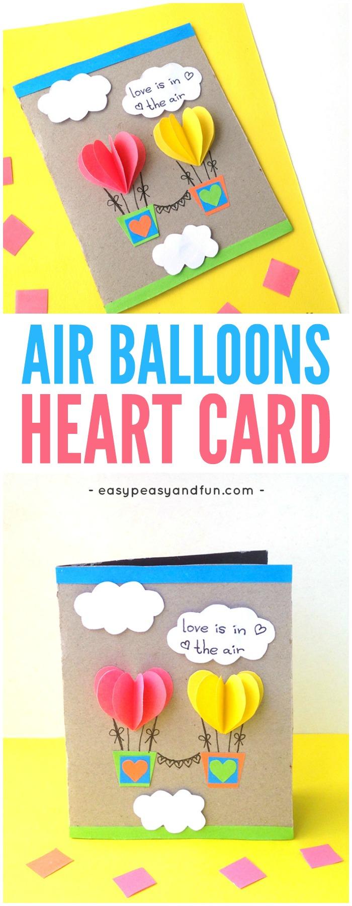 Heart Air Balloons Card Easy Peasy And Fun