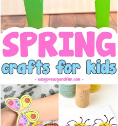 Spring Crafts for Kids - Art and Craft Project Ideas for All Ages - Easy  Peasy and Fun [ 1800 x 700 Pixel ]