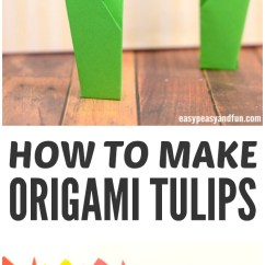 Origami Flower Diagram In English 1994 Club Car 36 Volt Wiring How To Make Flowers Tulip Tutorial With Step By Tulips