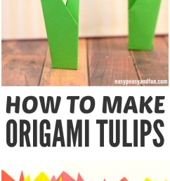 how to make origami flowers step by step origami tulips tutorial  [ 700 x 1800 Pixel ]