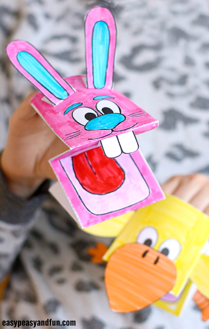 Printable Bunny And Chick Puppets Easy Peasy And Fun