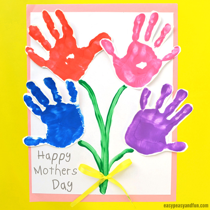 Mothers Day Handprint Art Flowers Easy Peasy And Fun